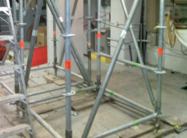 Propping and Shoring scaffolds